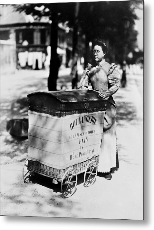 1898 Metal Print featuring the photograph Atget: Delivering Bread by Granger