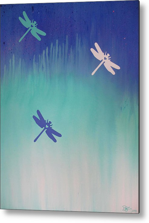 Dragonfly Metal Print featuring the painting Auroraphidia by Lance Bifoss