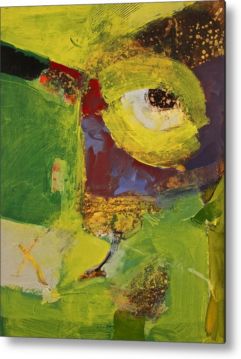 Abstract Paintings Metal Print featuring the painting Bulls Eye by Cliff Spohn
