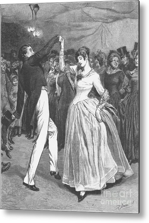 1886 Metal Print featuring the photograph Dance, 19th Century by Granger