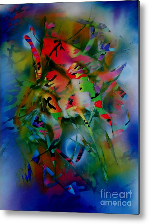Jungle Metal Print featuring the painting Dream Walk by Jim Hanson