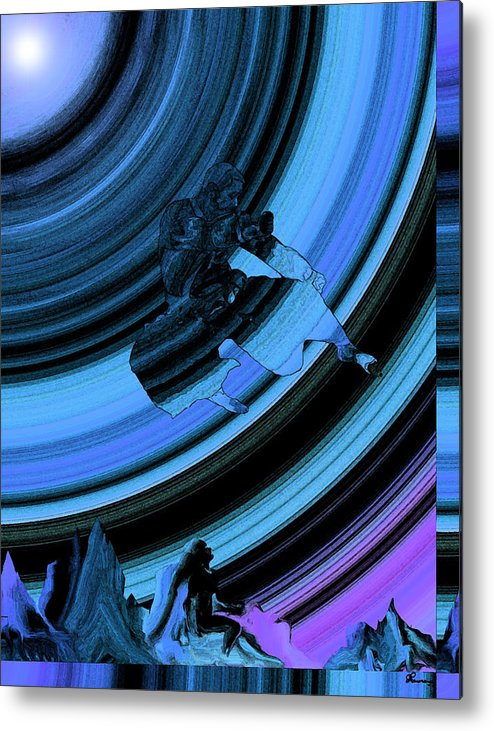Rainbow Effect Black Belt Hapkido Martial Arts Mountains Abstract Saskatchewan Artist Famous Artist Jump Kick Flying Catching Air Athletic Sport Master Metal Print featuring the photograph Dreaming by Andrea Lawrence