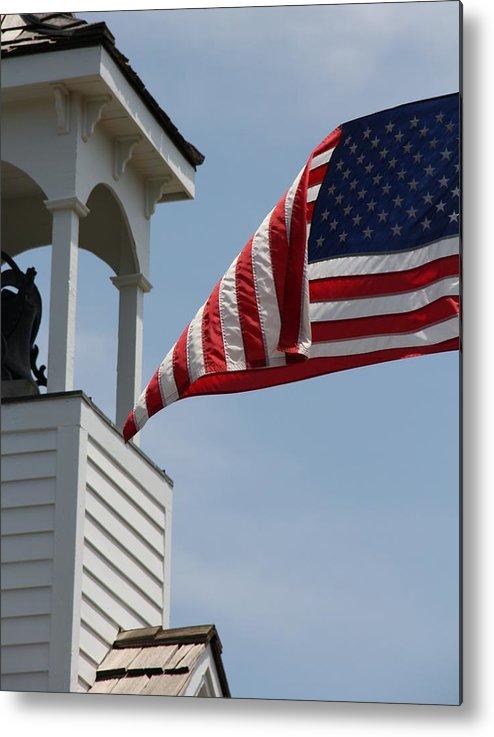 Flag Flies Metal Print featuring the photograph Flag Flies by Elizabeth Sullivan