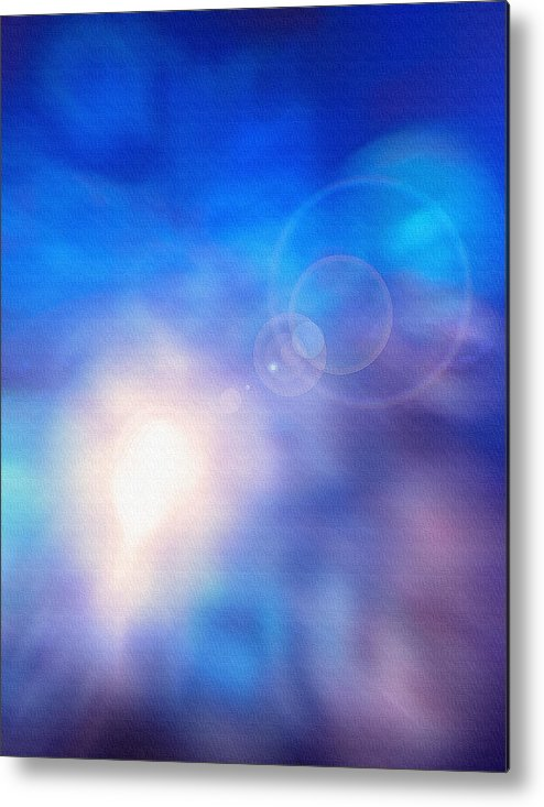 Light Metal Print featuring the photograph Folds Of Color Abstract - Up In The Sky by Steve Ohlsen