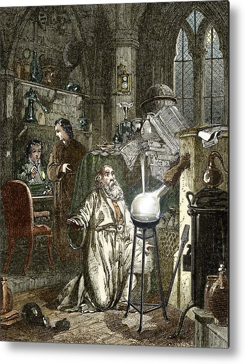 Alchemist Metal Print featuring the photograph Hennig Brand Discovering Phosphorus by Sheila Terry
