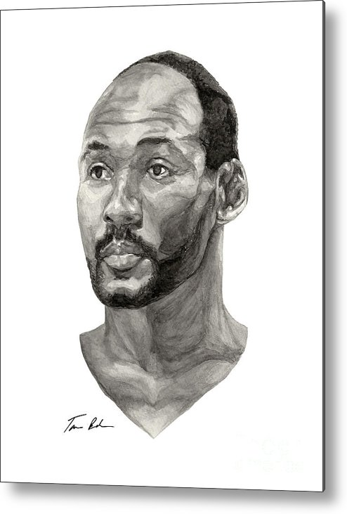 Karl Malone Metal Print featuring the painting Karl Malone by Tamir Barkan