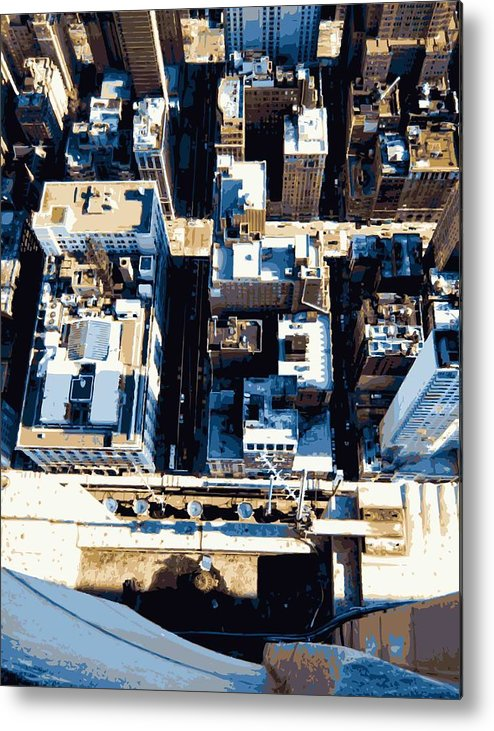 Empire State Building Metal Print featuring the photograph Looking Down Color 16 by Scott Kelley