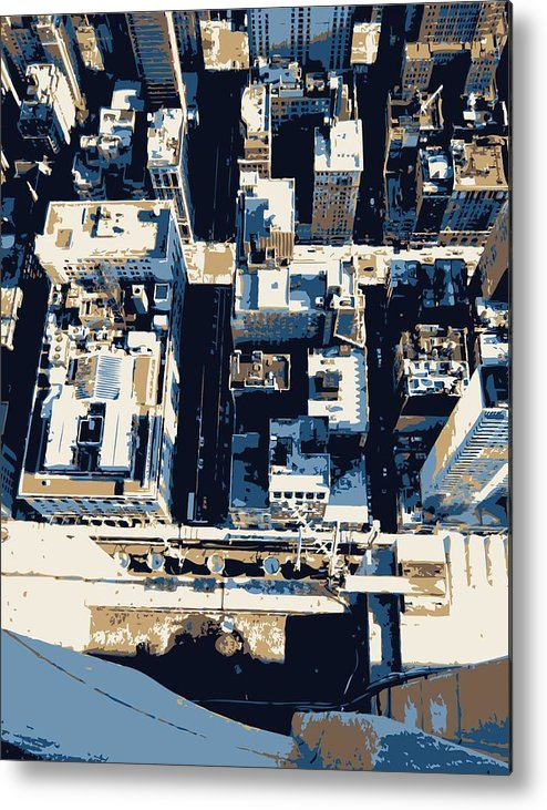 Empire State Building Metal Print featuring the photograph Looking Down Color 6 by Scott Kelley