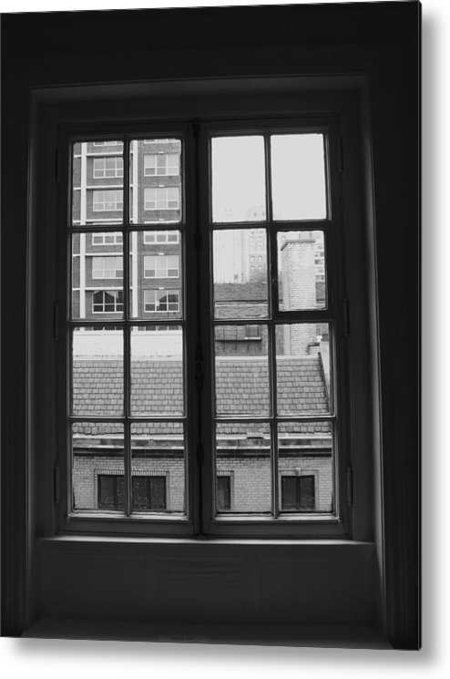 Window Metal Print featuring the photograph Lots Of Lines by Anna Villarreal Garbis