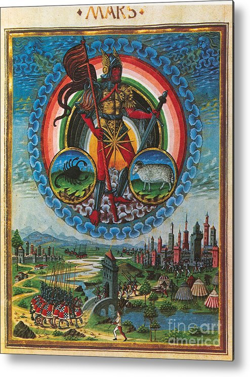 Astrology Metal Print featuring the photograph Mars, God Of War by Photo Researchers