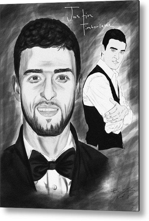 Secret Agent Justin Timberlake Metal Print featuring the drawing Secret Agent Justin Timberlake by Kenal Louis