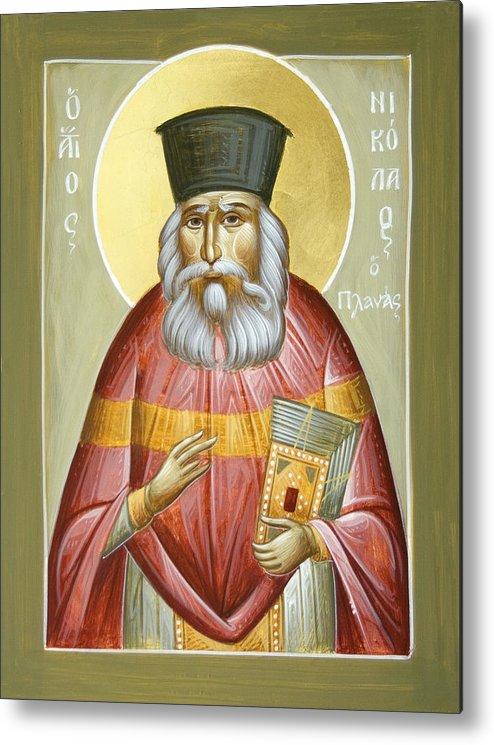 St Nicholas Planas Metal Print featuring the painting St Nicholas Planas by Julia Bridget Hayes