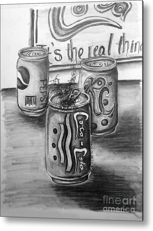 Metal Print featuring the drawing The Real Thing by Tracy Glantz