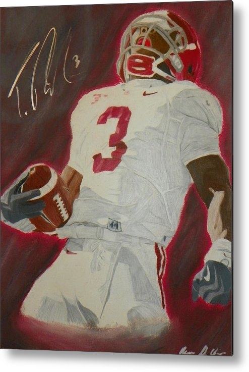 Trent Richardson Metal Print featuring the drawing Trent Richardson Alabama Crimson Tide by Ryne St Clair