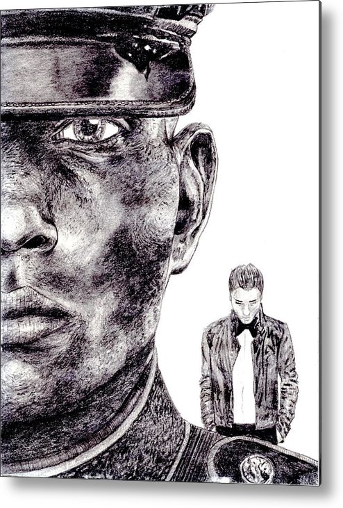 Marine Metal Print featuring the drawing Who Fights Our Wars by Blake Grigorian