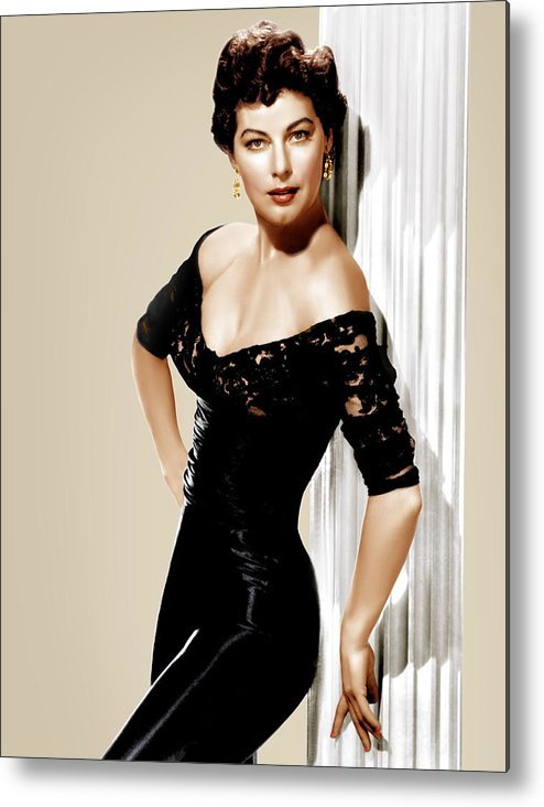 1950s Portraits Metal Print featuring the photograph Ava Gardner, Ca. 1950s by Everett