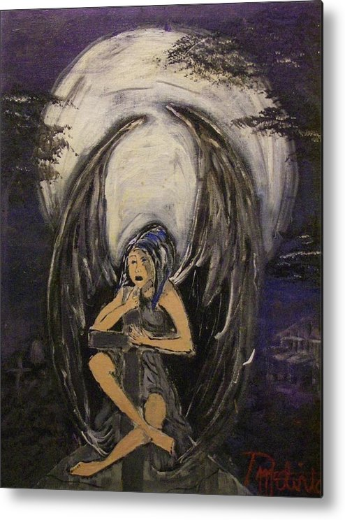 Fantasy Metal Print featuring the painting Bitter Angel by Danial Mcclinton