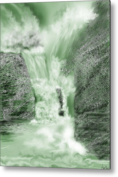 White Water Metal Print featuring the painting Cherry Creek Lower Run by Anne Norskog