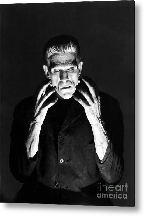 Frankensteins Metal Print featuring the photograph Frankensteins Monster Boris Karloff by R Muirhead Art