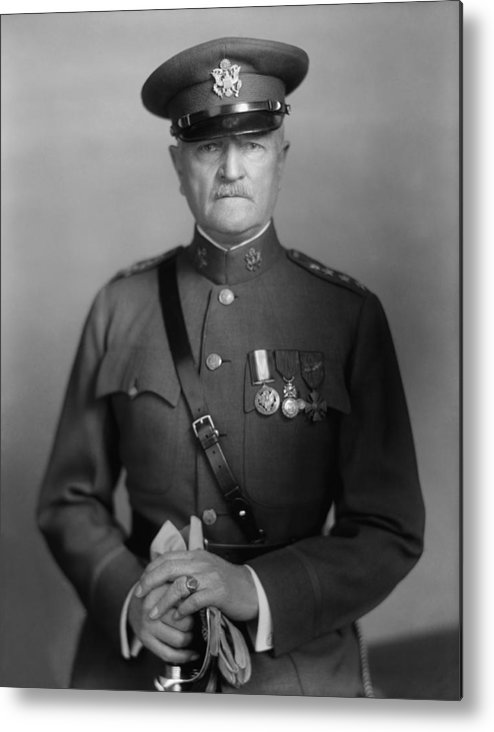 General Pershing Metal Print featuring the photograph General John Pershing 1 by War Is Hell Store