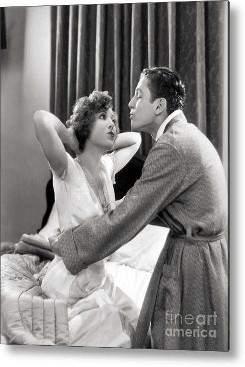 -couples- Metal Print featuring the photograph Silent Film Still: Couples by Granger