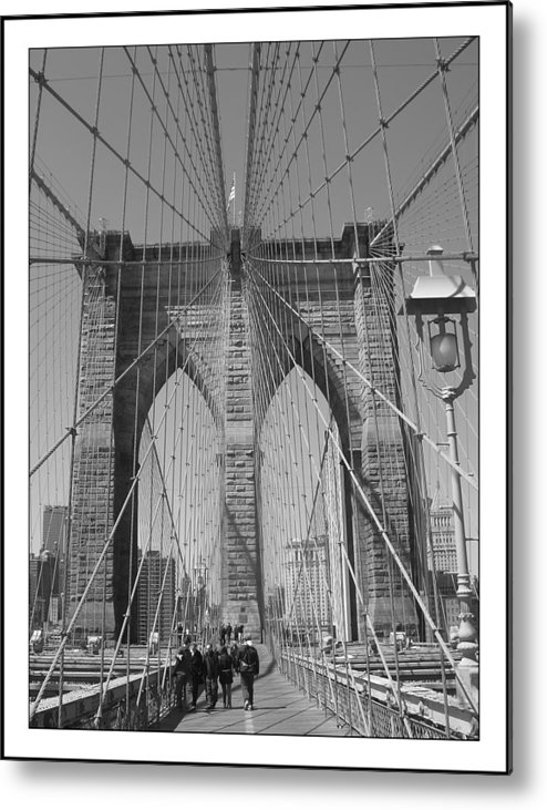 Brooklyn Bridge Metal Print featuring the painting Brooklyn Bridge by Habib Ayat