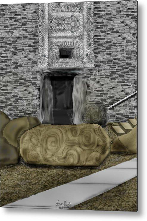 Newgrange Metal Print featuring the painting Newgrange Ireland by Anne Norskog