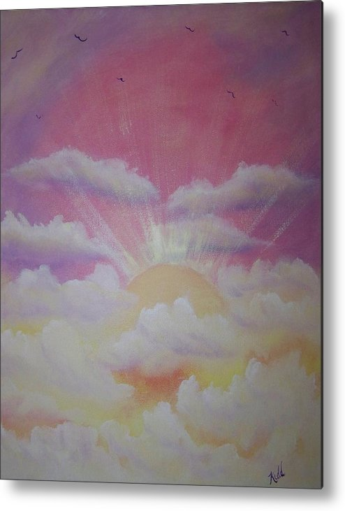 Bird Metal Print featuring the painting The Ascension by Laurie Kidd