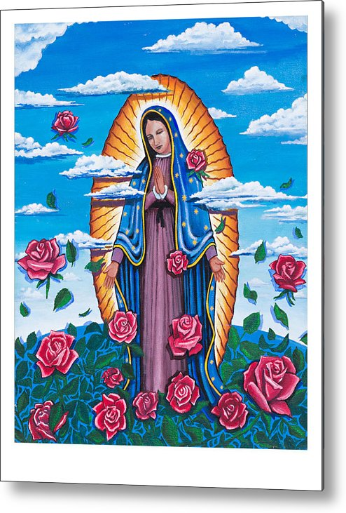 Guadalupe Metal Print featuring the painting 4 Arm Cloud 3-d by James RODERICK