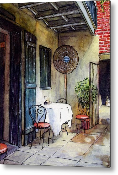 Napoleon House Metal Print featuring the painting 61 by John Boles