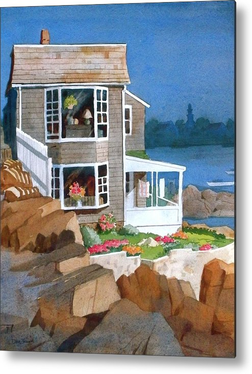 Waterfront Metal Print featuring the painting A Summer Place by Faye Ziegler