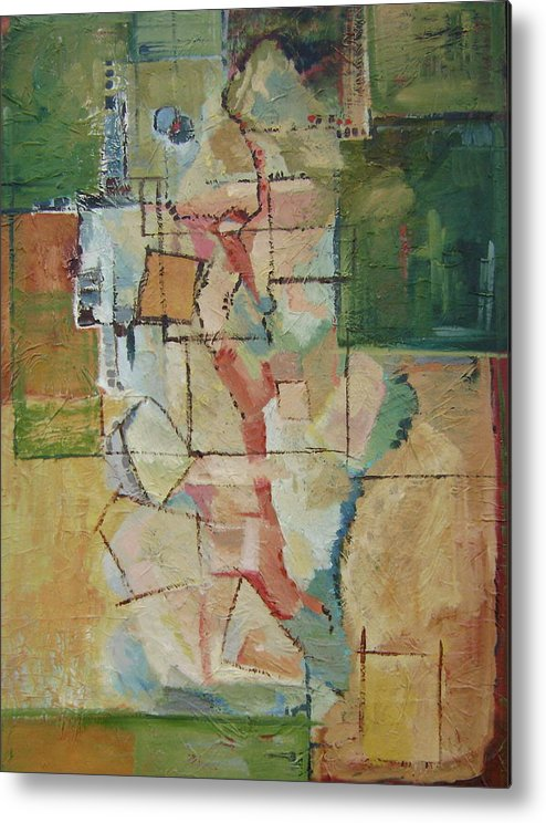 Abstract Art Metal Print featuring the painting Aerial by Ginger Concepcion