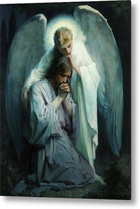 Agony In The Garden Metal Print featuring the painting Agony In The Garden by Schwartz Frans