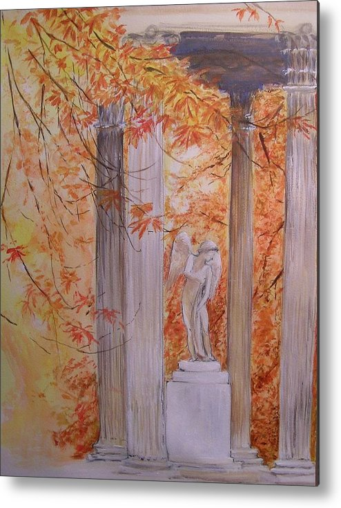 Angel Metal Print featuring the painting Ange Petit Trianon Versailles by Lizzy Forrester
