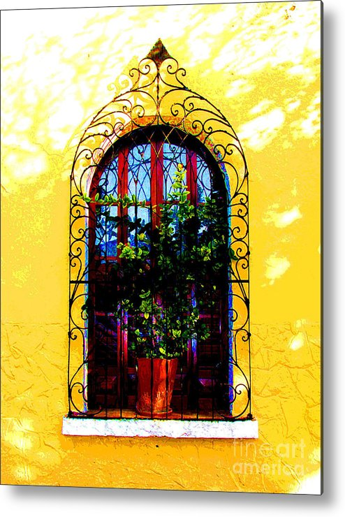 Darian Day Metal Print featuring the photograph Arched Window By Darian Day by Mexicolors Art Photography