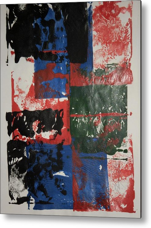 Abstract Metal Print featuring the painting Ash Wednesday by Edward Wolverton