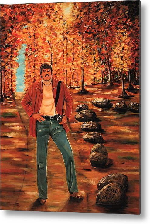 Portrait Metal Print featuring the painting Bill Bachmann Path Of A Photographer by Dyanne Parker
