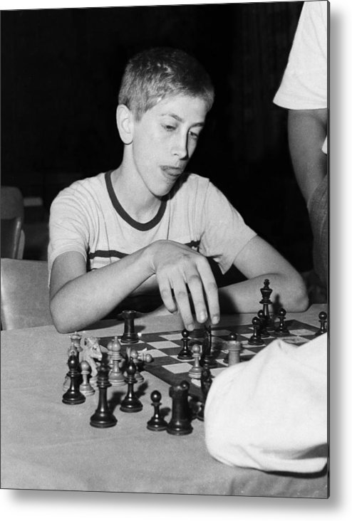 1950s Portraits Metal Print featuring the photograph Bobby Fischer, Circa 1957 by Everett