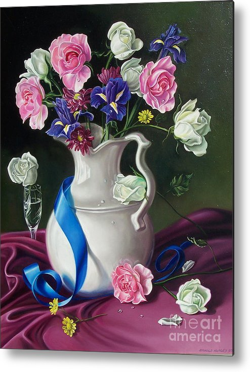Floral Metal Print featuring the painting Bouquet by Arnold Hurley