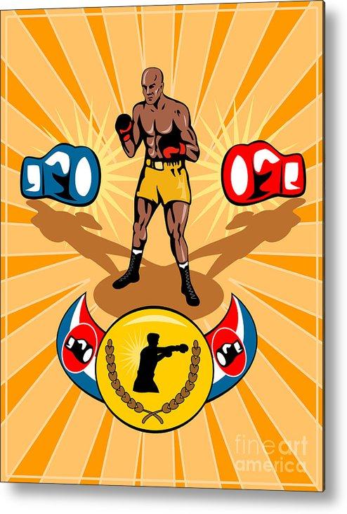 Boxer Metal Print featuring the digital art Boxer Boxing Poster by Aloysius Patrimonio