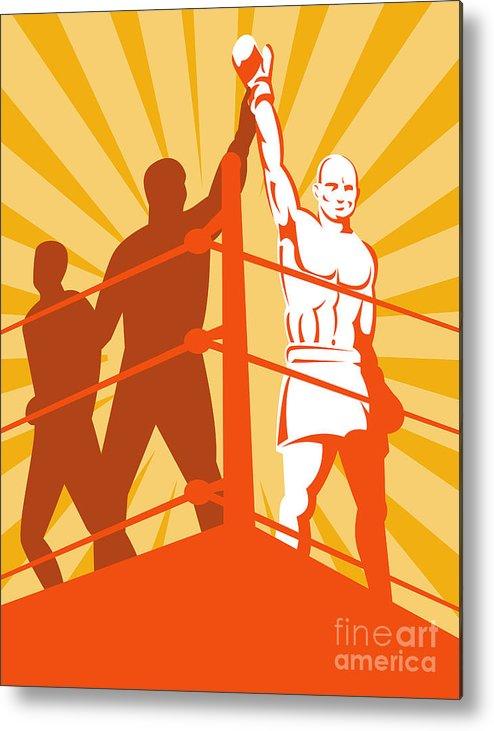 Boxing Metal Print featuring the digital art Boxing Champion by Aloysius Patrimonio