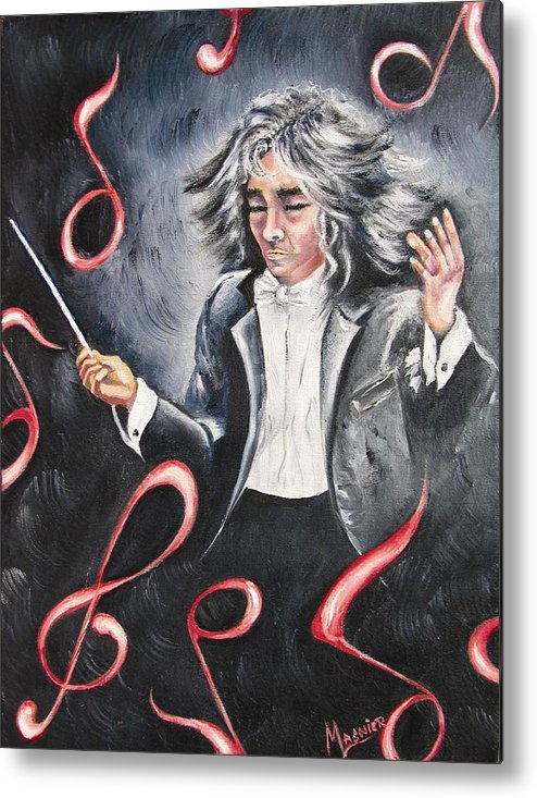 Musicien Metal Print featuring the painting Bravissimo by Madeleine Lasnier