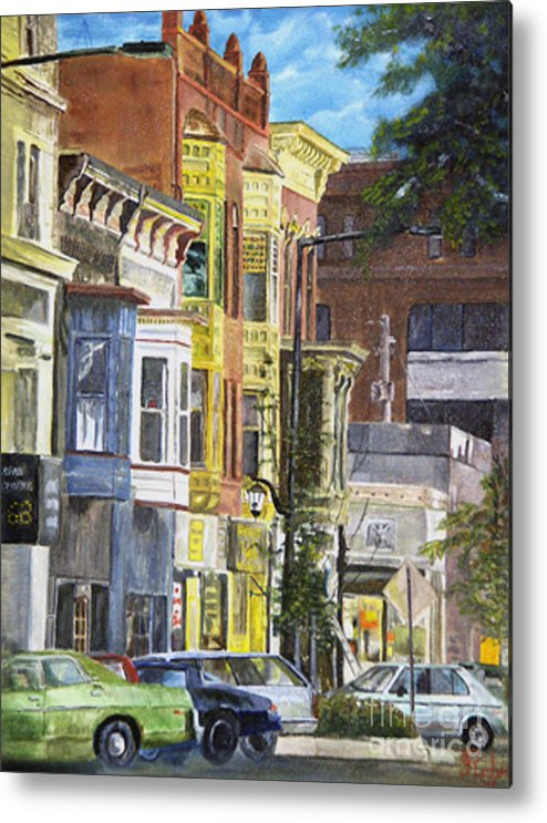 Cityscape Metal Print featuring the painting Broad Street by CJ Rider