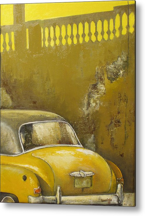 Havana Metal Print featuring the painting Buscando La Sombra by Tomas Castano