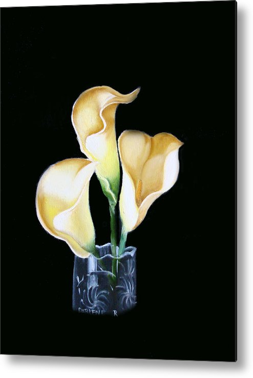 Calla Lilies Metal Print featuring the painting Calla Lily by Darlene Green
