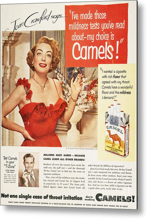 1951 Metal Print featuring the photograph Camel Cigarette Ad, 1951 by Granger