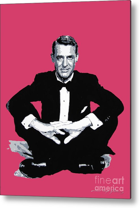 Cary Grant Metal Print featuring the painting Cary Grant by David Lloyd Glover