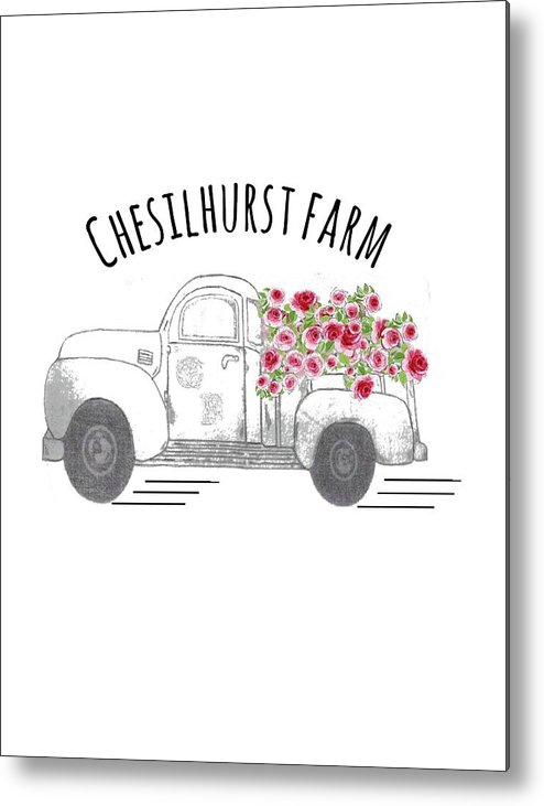 Chesilhurst Farm Metal Print featuring the drawing Chesilhurst Farm by Kim Kent
