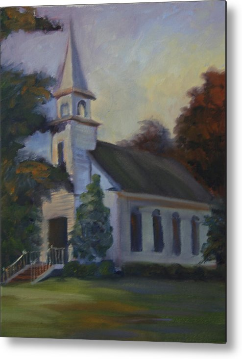 Church Metal Print featuring the painting Children by Jill Holt
