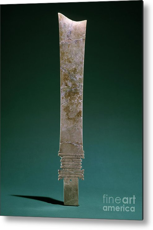 Ancient Metal Print featuring the photograph China: Jade Blade by Granger